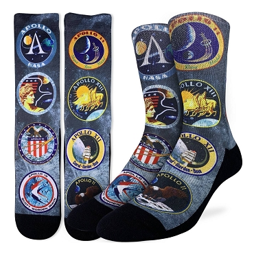 Apollo Mission Patches Socks Men's size 8-13