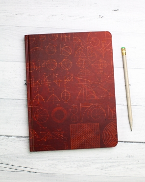 Mathematics Hardcover Notebook- Lined/Blank 192 page
