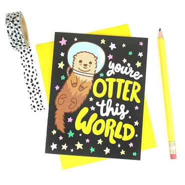 Otter This World - Greeting Card