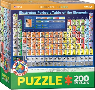 Illustrated Periodic Table of the Elements - 200 Piece