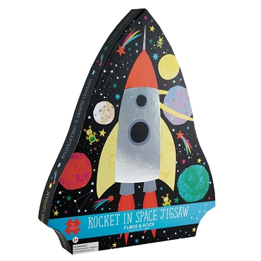 Rocket in Space Jigsaw Puzzle - 40 Piece