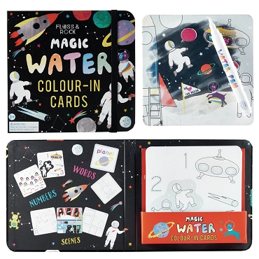 Magic Water Colour-In Cards - Space