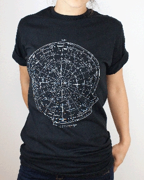 Star Chart Glow-In-The-Dark Adult Tee