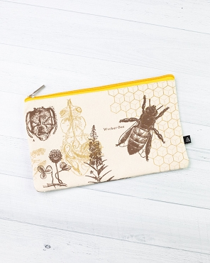 Honey Bee Zip Pencil Case