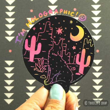 Sticker - Desert Coyote - Holographic