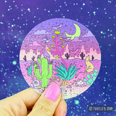 Sticker - Dreamy Desertscape - Metallic