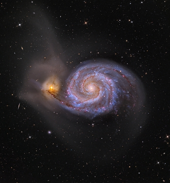 M51 Whirlpool Galaxy - Astrophotography Print